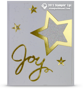 stampin up joy new years card