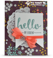 stmapin up hello my friend stamp set