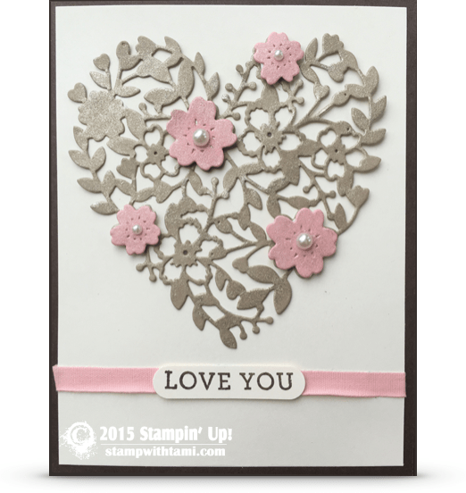 stampin up bloomin heart wink of stella