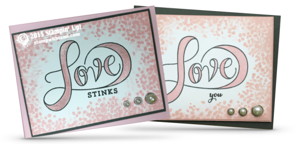 stampin up love stinks set of valentines day cards