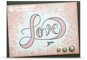 stampin up love you valentines day card