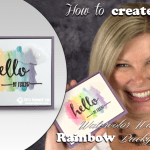 VIDEO: How to create a Rainbow Watercolor Wash Technique