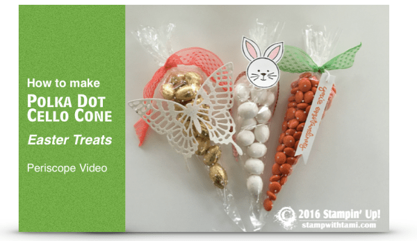 how to make polka dot cello cone easter treats stampin up