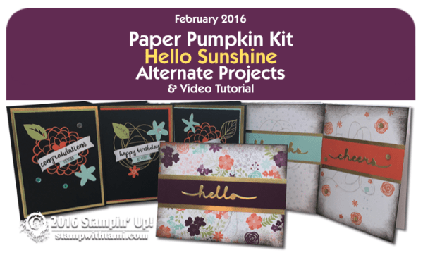 stampin up paper pumpkin group shot feb 2016 hello sunshine