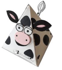 stampin up playful pals pyramid cowbox