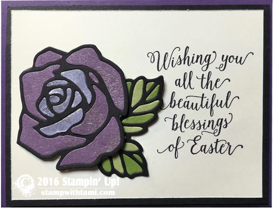 stampin up rose wonder card