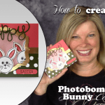 BLOG HOP & VIDEO: Photobombing Bunny Picture Frame Card