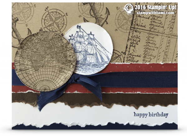 Stampin Up Open Sea 1 card