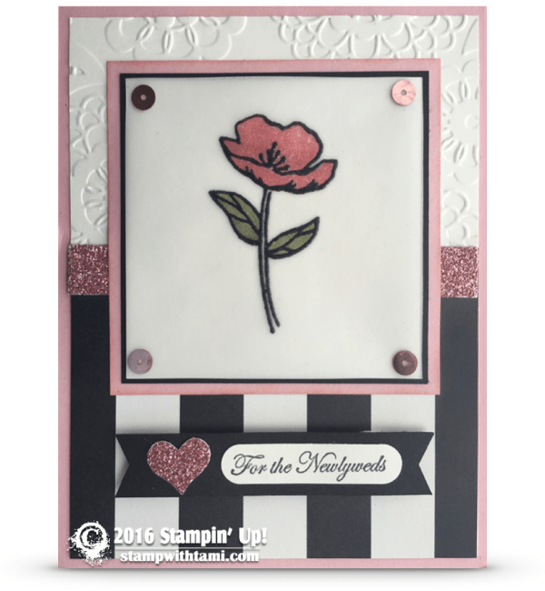 stampin up birthday blooms wedding card