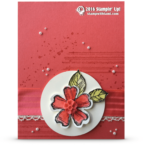 stampin up birthday blossoms