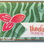 CARD: Friends & Flowers Fishy Thanks Card