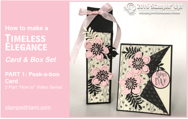 stampin up gift set timeless elegance part 1a