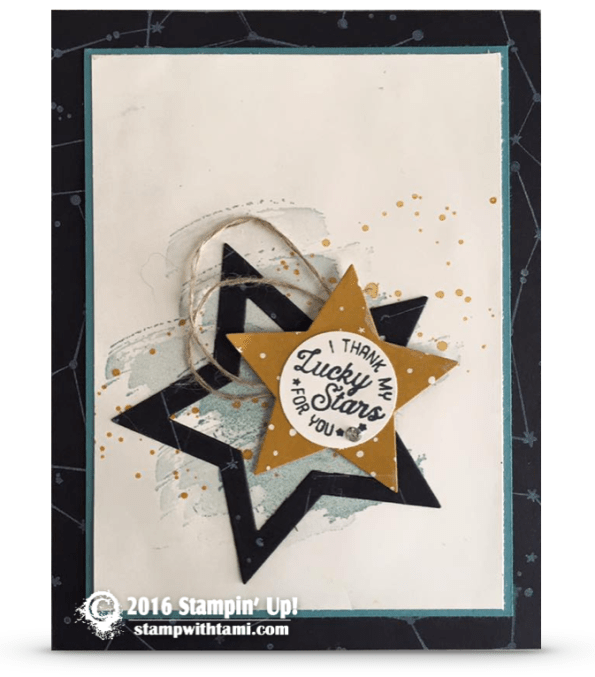 stampin up going global lucky stars card