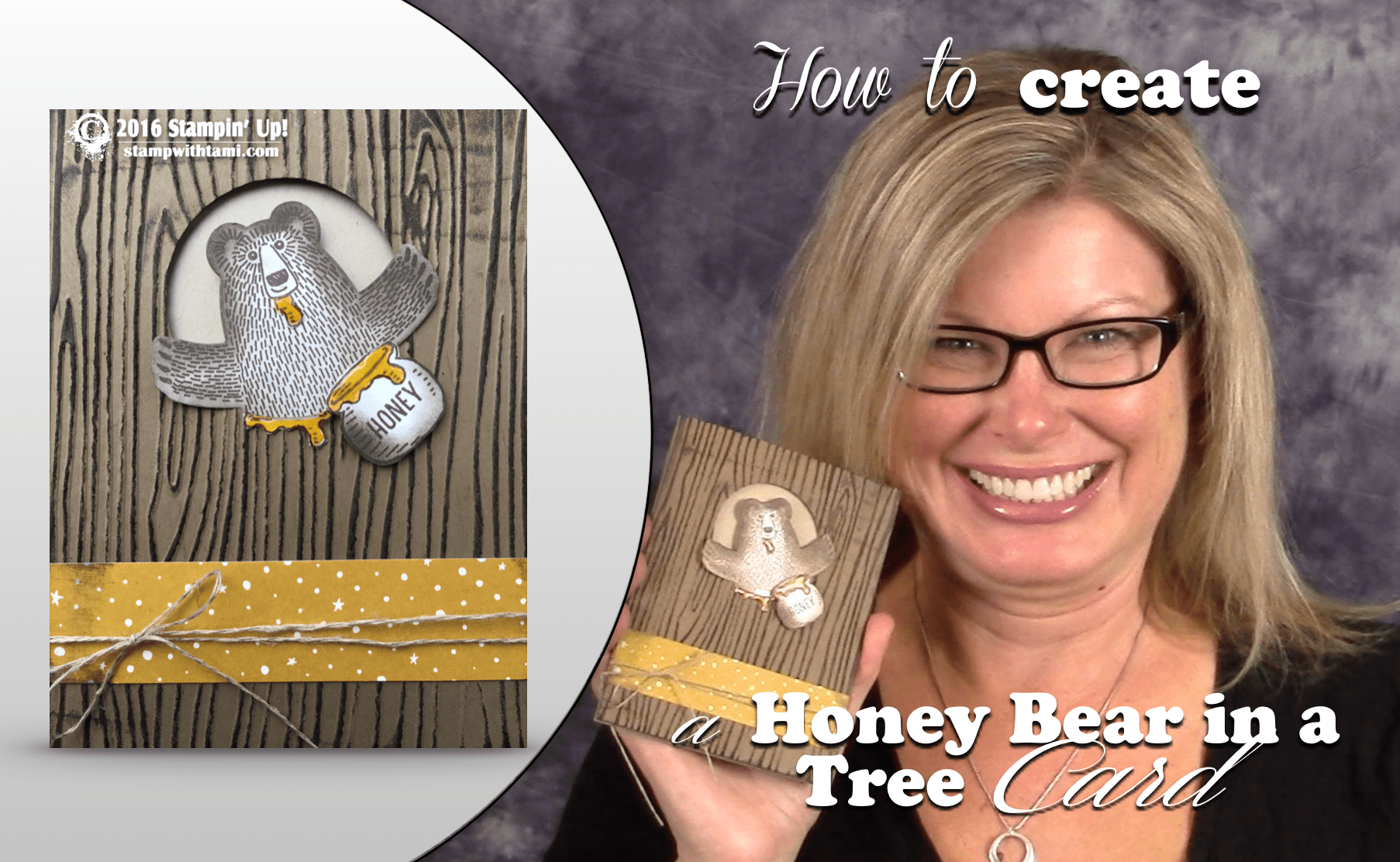 VIDEO How To Make A Bear In A Tree Honey Pot Card