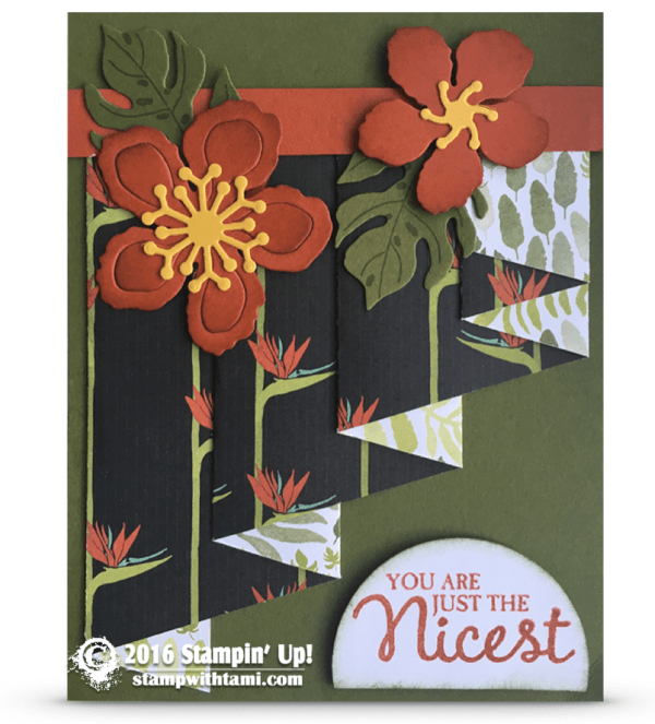 stampin up botanical blooms curtain fold