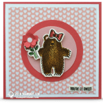 CARD: Sweet Watercolor Bear Hugs Note Card