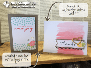 stampin up watercolor wishes card kit