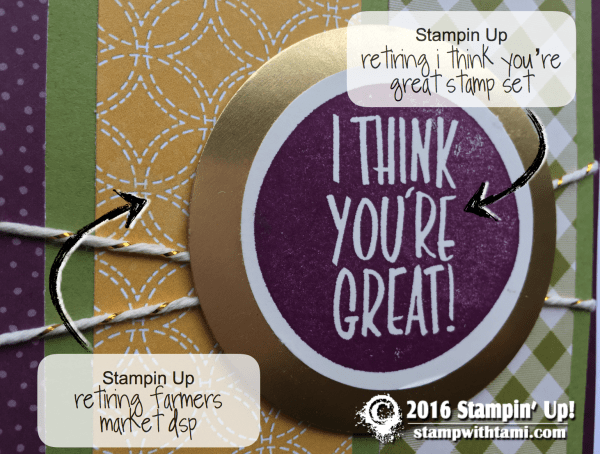 stampin up i think youre great card 1