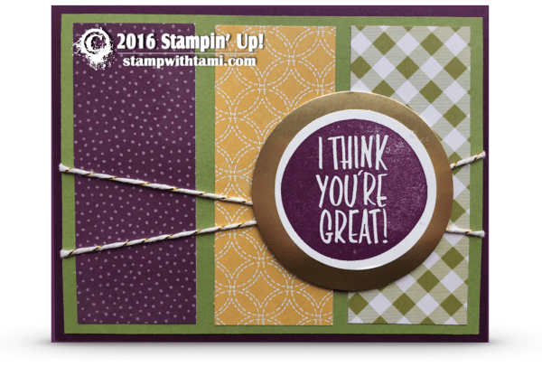 stampin up i think youre great card