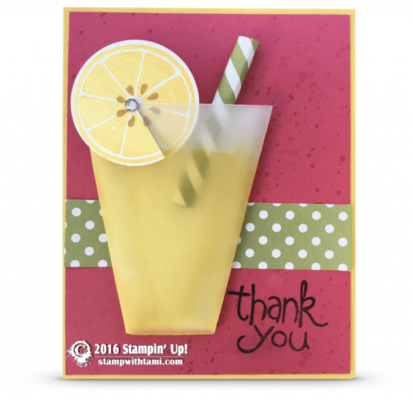 stampin up lemonade vellum card