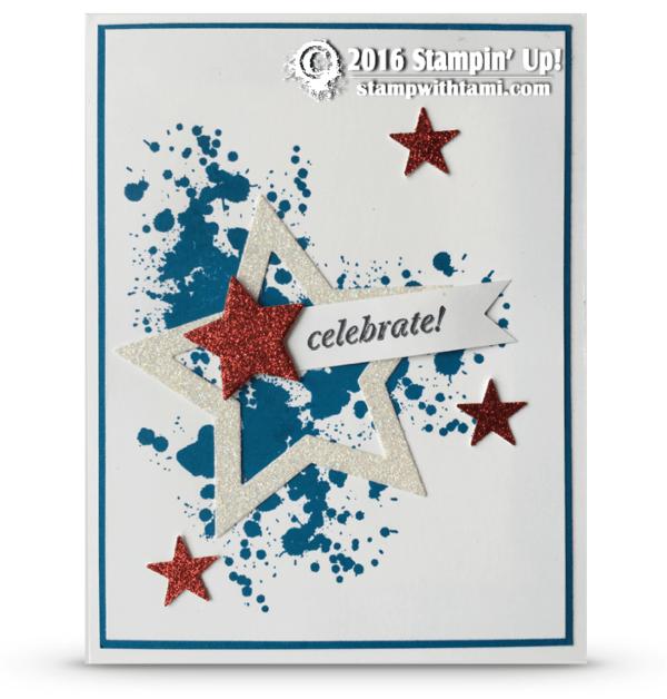 stampin up patriotic start card