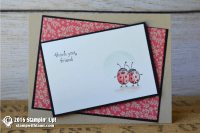 stampin up love you lots lady bugs