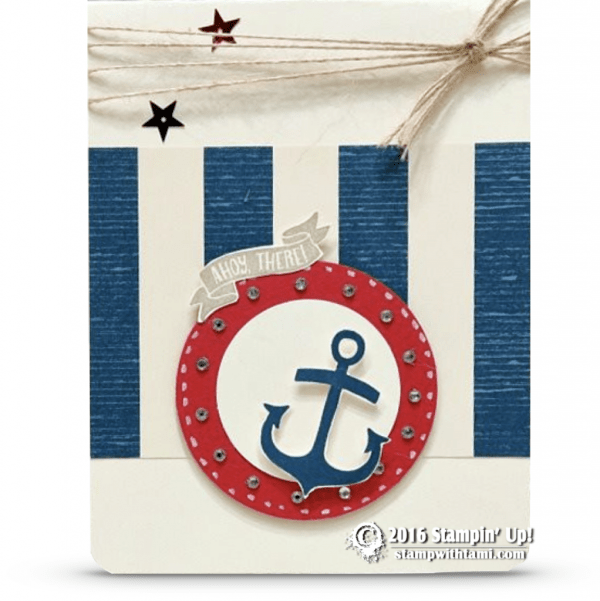 stampin up seaside shore anchor card