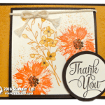 CARD: Beautiful Touches of Texture Floral Thank You