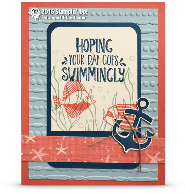 stampni up seaside shore summer card