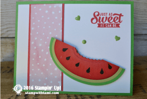 watermelon stampin up