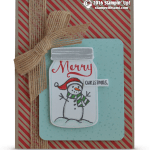 CARD: Christmas Snowman from Jar of Cheer
