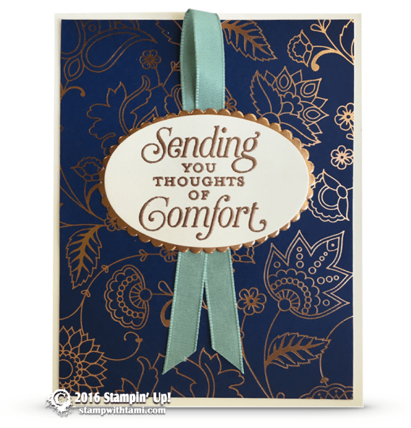 stampin up suite sayings copper