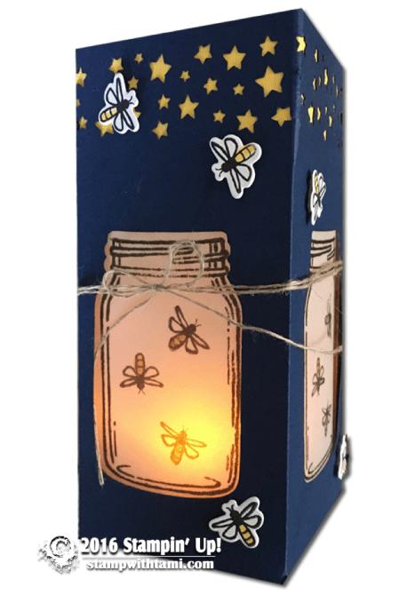 stampoin up jar of love luminary box