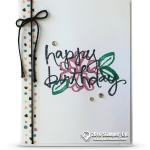 CARD: Happy Birthday flower from the Watercolor Wishes set