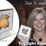 BLOG HOP & GIVEAWAY: How to make a Thanksgiving Tea Light Easel Card