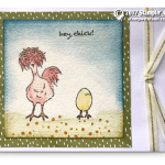 CARD: Hey Chick SAB Watercolor Fun Card