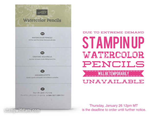 Watercolor pencils unavailable