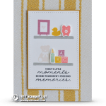 CARD: Little Moments Baby Card from the Bookcase Builder stamps