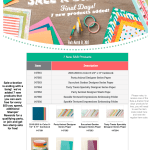 NEWS: 7 New Sale-a-bration Products add and 2 Sell Outs – ends March 31