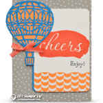 CARD: Reverse Words Cheers Balloon Card