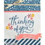 RETIRING: Thinking of you always card from the Time of Year stamps