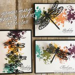 ONLINE CLASS & VIDEO: How to make a Gorgeous Grunge Dragonfly Card Set