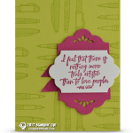 CARD: Truly Artistic Card from the Crafting Forever Stamps