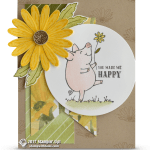 CARD: You Make Me Happy card from This Little Piggy Set