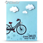 CARD: Sending Smiles Cloud Card from the Bike Ride Stamps