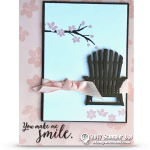 CARD: You Make Me Smile Chair Card from the Colorful Seasons Stamps