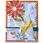 CARD: Brighten My Day Floral Bouquet Card with the Daisy Delight Stamp set