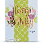 "CARD: Gorgeous Copper Happy Birthday ""Wow"" Card"