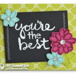 "CARD: Striking ""You're the Best"" Card from the Watercolor Words Stamps"