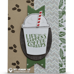 CARD: Life Happens, Coffee Helps Card with foam on top